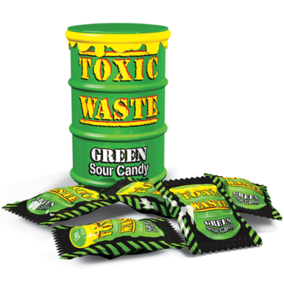 Toxic Waste Green Sour Candy 42g Drum