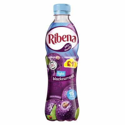 Ribena Really Light Blackcurrant (Cukormentes Feketeribizli Ital) 500ml