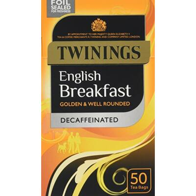 Twinings English Breakfast Decaf Tea 50 db filter - koffeinmentes reggeli fekete tea