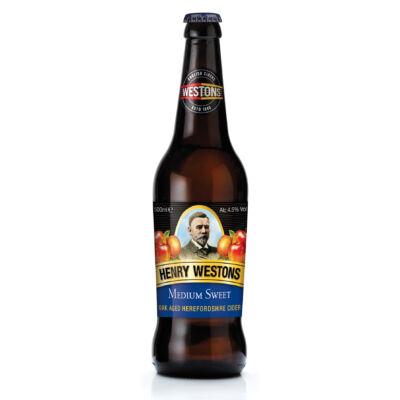 Henry Westons Medium Sweet Cider (500ml, 4.5%)