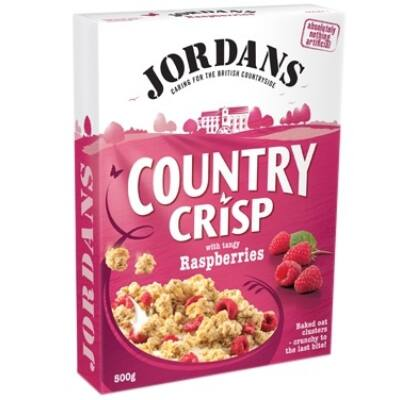 Jordans Country Crisp müzli málnával(With Tangy  Raspberries) - 500g