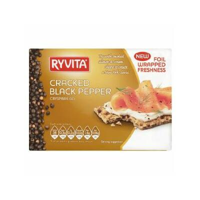 Ryvita Cracked Black Pepper Crispbread 200g