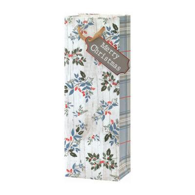 Tom Smith Karácsonyi Ajándéktáska - Foliage Bottle Bag