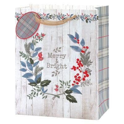 Tom Smith Karácsonyi Nagy Ajándéktáska - Foliage Large Bag