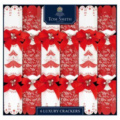 "Tom Smith Red & White Luxury Christmas Crackers 6x14"" méretű cracker"