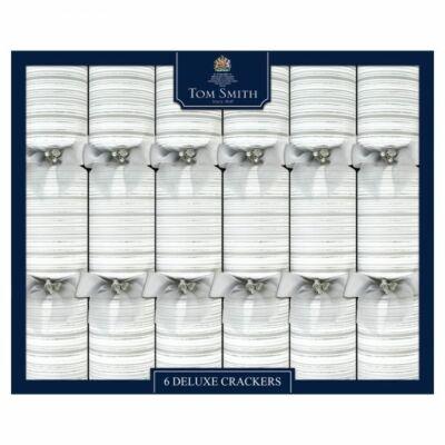 "Tom Smith deluxe silver & white  crackers 6x14"" méretű cracker"