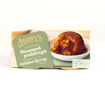Aunty's Golden Syrup Pudding 2x100g