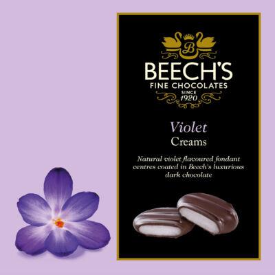 Beech's Violet Creams 90g