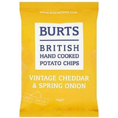 Burts Vintage Cheddar & Spring Onion Crisps 40g