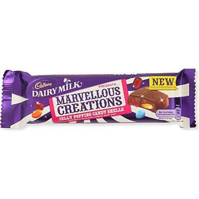 Cadbury Dairy Milk Marvellous Creations Jelly Popping Candy Shells 47g