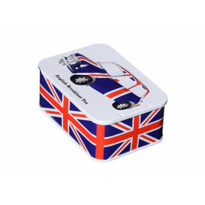 British Heritage Union Jack Sliding Lid Tea Tin 10 db teafilterrel