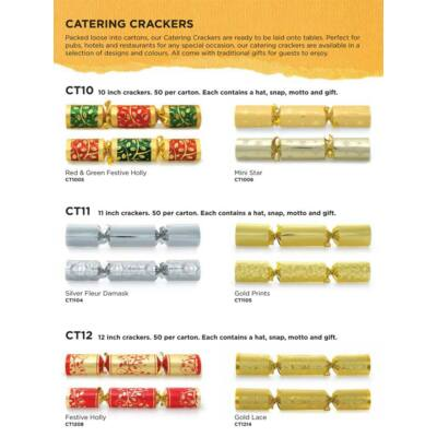 Celebration Catering Crackers Gold Prints 50 db / karton