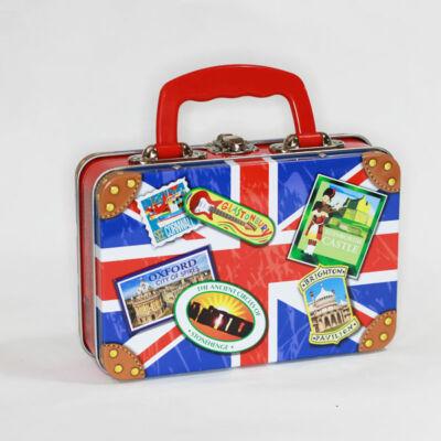 Churchills Union Jack Suitcase Tin Toffee 200g
