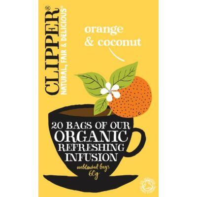 Clipper Organic Orange & Coconut (Narancs és kókusztea biokertből) 20 db filter