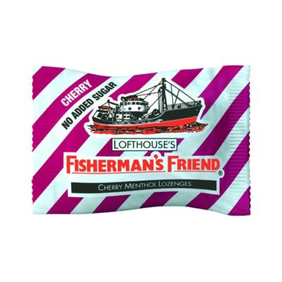 Fisherman's Friend Cherry Cukormentes cukorka 25g