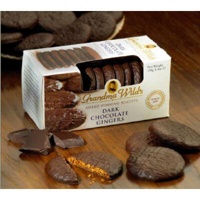 Grandma Wilds Dark Choc Ginger Biscuits (Gyömbéres keksz étcsokoládéval)