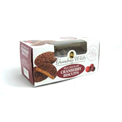 Grandma Wilds Milk Choc & Cranberry (Áfonyás keksz tejcsokoládéval)  150g