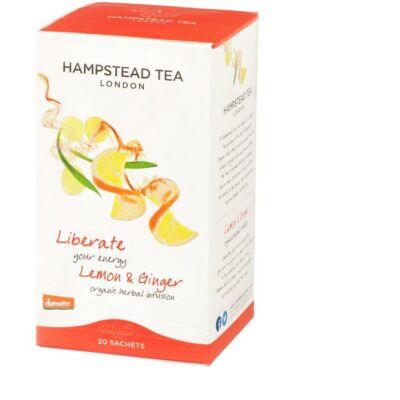 Hampstead Organic Lemon & Ginger - Bio Gyömbér-Citrom Tea 20 db filter
