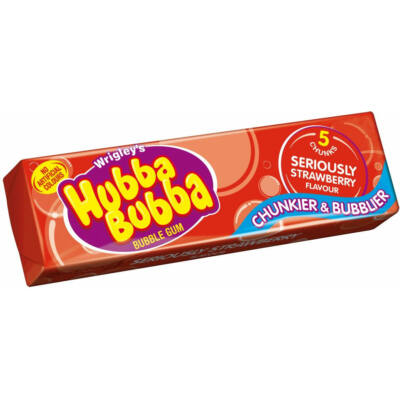 Hubba Bubba Seriously Strawberry eperízû rágógumi 5 db