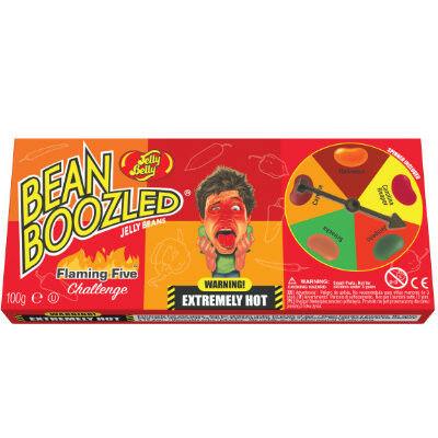 Jelly Belly Beanboozled Flaming Five pörgetős játék dobozos kiadás 100g