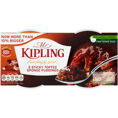 Mr Kipling Exceedingly Good Sticky Toffee Sponge Puddings