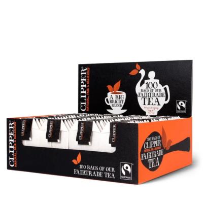 Clipper Fairtrade Tea 100 string & tag  bags