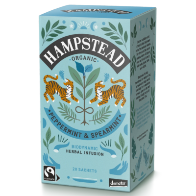 Hampstead Tea Organic Fairtrade Peppermint & Spearmint 20 Tea Bags