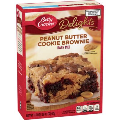 Betty Crocker Bars Mix Peanut Butter Cookie Brownie [USA] 487g