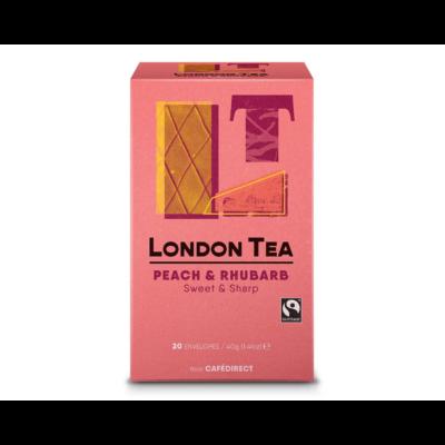 The London Tea Company - Peach & Rhubarb Tea (őszibarack-rebarbara tea) 20 db borítékolt filter