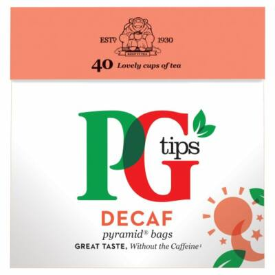 PG Tips Decaf Teabags (Koffeinmentes fekete tea) 40 db filter
