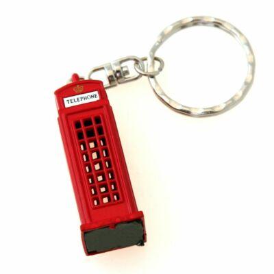 Telefonfülkés kulcstartó