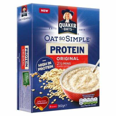 Quaker Oat So Simple Protein Original Porridge (8 instant tasak) 302g