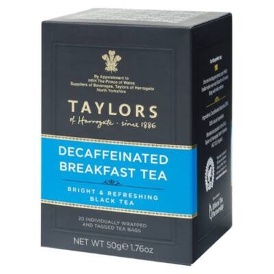 Taylor's Of Harrogate Decaf Breakfast Tea 20 db borítékolt filter