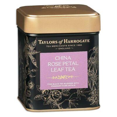 Taylors of Harrogate China Rose Petal Leaf Tea Tin (Fémdobozos fekete tea rózsaszirmokkal) 125g