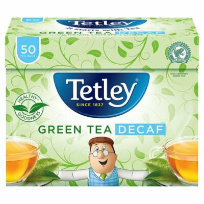 Tetley Green Tea Decaf (Koffeinmentes zöld tea) 50 db filter