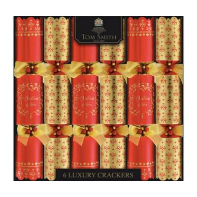 "Tom Smith Red & Gold Luxury Christmas Crackers 6x14"" méretű cracker"