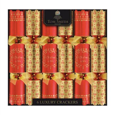 "Tom Smith Red & Gold Luxury Christmas Crackers 6x14"" méretű cracker"