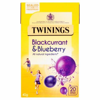 Twinings Blackcurrant & Blueberry (Feketeribizli és kékáfonya) Tea 20 db filter