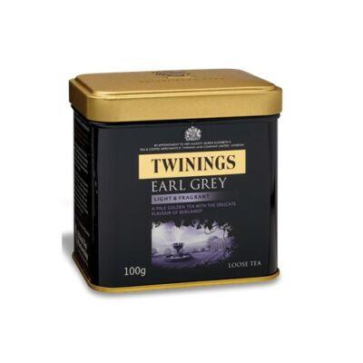 Twinings Earl Grey fémdobozos szálas tea 100g