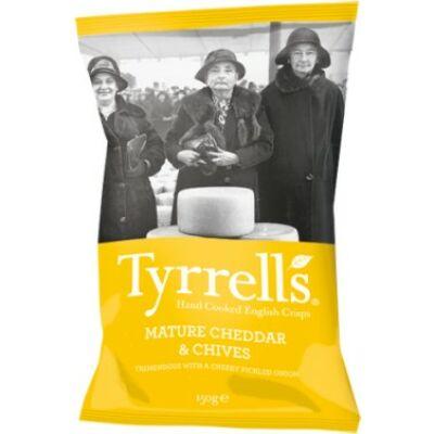 Tyrrell's Mature Cheddar & Chives (Cheddar sajtos-snidlinges chips) 150g