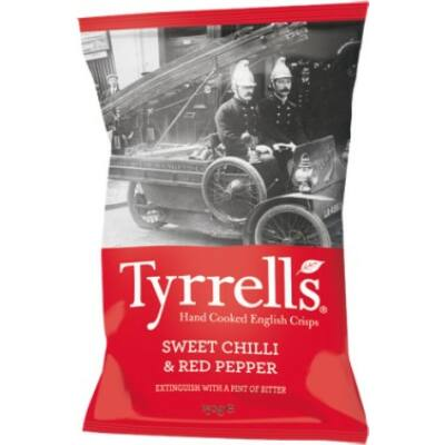 Tyrrell's Sweet Chilli and Red Pepper Crisps 150g