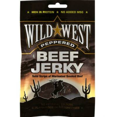 Wild West Peppered Beef Jerky 25g